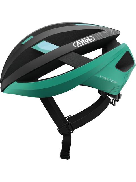 ABUS Viantor Kask rowerowy czarny/turkusowy